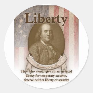 Benjamin Franklin – Liberty Classic Round Sticker