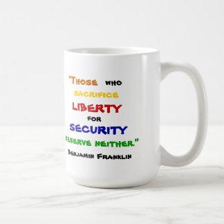 Benjamin Franklin Liberty Mug
