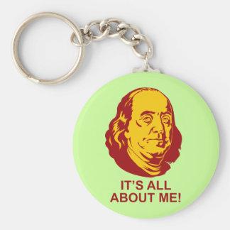 Benjamin Franklin Llavero Redondo Tipo Pin