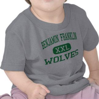 Benjamin Franklin - lobos - alto - Palos Heights Camisetas
