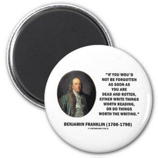 Benjamin Franklin Not Be Forgotten Reading Writing Refrigerator Magnets