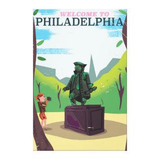 Benjamin Franklin Philadelphia cartoon Canvas Print