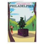 Benjamin Franklin Philadelphia cartoon Card