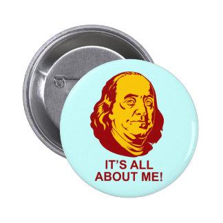 Benjamin Franklin Pin Redondo De 2 Pulgadas