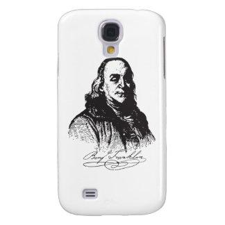Benjamin Franklin Portrait and Signature Design Samsung Galaxy S4 Cases