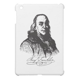 Benjamin Franklin Portrait and Signature Design iPad Mini Covers