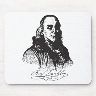 Benjamin Franklin Portrait and Signature Design Mouse Pad