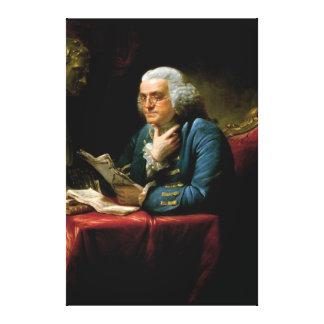 Benjamin Franklin Portrait by David Martin 1767 Canvas Print