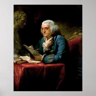 BENJAMIN FRANKLIN Portrait by David Martin Print