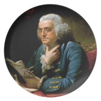 Benjamin Franklin Portrait Party Plates