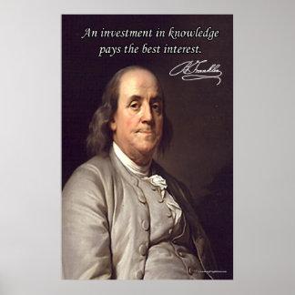 Benjamin Franklin Poster