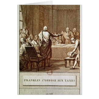 Benjamin Franklin Presenting his Opposition Card