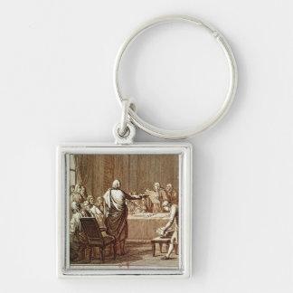 Benjamin Franklin Presenting his Opposition Keychain