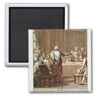 Benjamin Franklin Presenting his Opposition Magnets