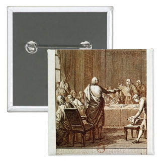 Benjamin Franklin Presenting his Opposition Pinback Button