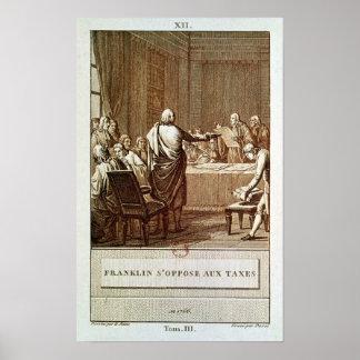 Benjamin Franklin Presenting his Opposition Poster