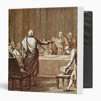 """Benjamin Franklin que presenta su oposición Carpeta 1 1/2"""""""