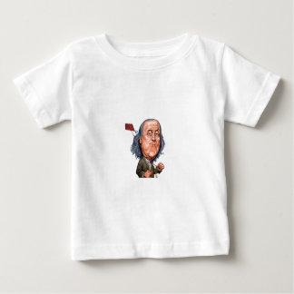 Benjamin Franklin que sostiene la cometa con llave Playera De Bebé