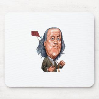 Benjamin Franklin que sostiene la cometa con llave Alfombrilla De Ratón