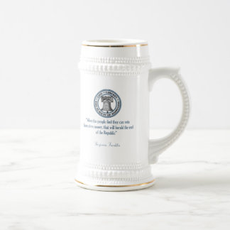 Benjamin Franklin Quote (Money) Beer Stein