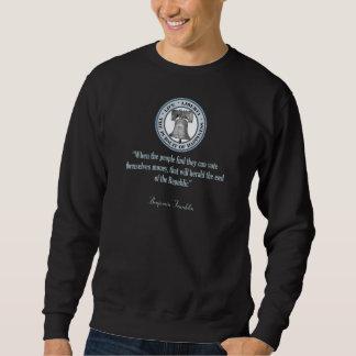 Benjamin Franklin Quote (Money) Pull Over Sweatshirts