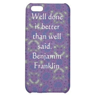 Benjamin Franklin Quote With Primitive Design iPhone 5C Case