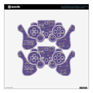 Benjamin Franklin Quote With Primitive Design PS3 Controller Decal