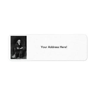 Benjamin Franklin Return Address Label