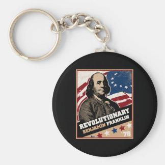 Benjamin Franklin Revolutionary Keychain