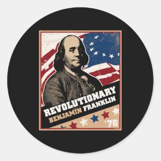 Benjamin Franklin Revolutionary Stickers