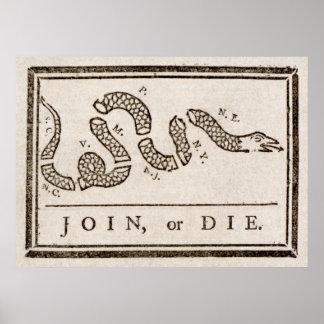 Benjamin Franklin se une a o muere impresión del d Posters