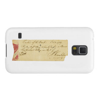 Benjamin Franklin Signed Check October 2, 1787 Galaxy S5 Case