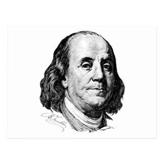 Benjamin Franklin Tarjeta Postal