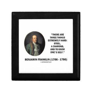 Benjamin Franklin Three Things Extremely Hard Keepsake Boxes