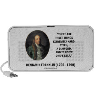 Benjamin Franklin Three Things Extremely Hard Portable Speaker