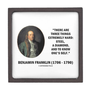 Benjamin Franklin Three Things Extremely Hard Premium Jewelry Boxes