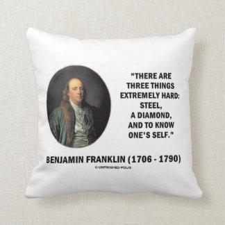 Benjamin Franklin tres cosas extremadamente Cojines