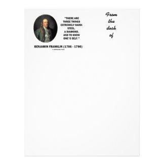 Benjamin Franklin tres cosas extremadamente Membretes Personalizados