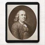 Benjamin Franklin - Vintage Magic Lantern Slide Mouse Pads