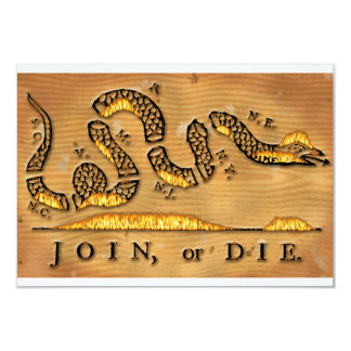 Benjamin Franklin's Join Or Die Political Cartoon Card