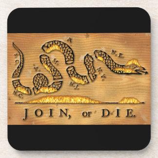 Benjamin Franklin's Join Or Die Political Cartoon Coaster