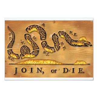 "Benjamin Franklin's Join Or Die Political Cartoon 3.5"" X 5"" Invitation Card"