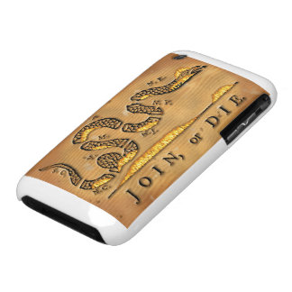 Benjamin Franklin's Join Or Die Political Cartoon iPhone 3 Case