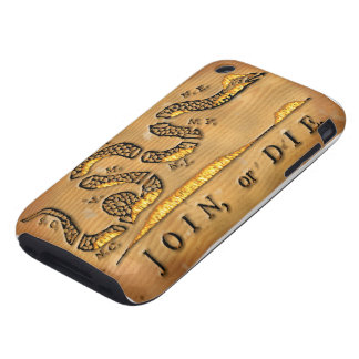 Benjamin Franklin's Join Or Die Political Cartoon iPhone 3 Tough Cases