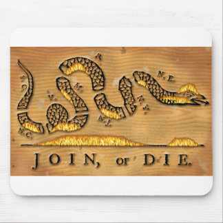 Benjamin Franklin's Join Or Die Political Cartoon Mouse Pad