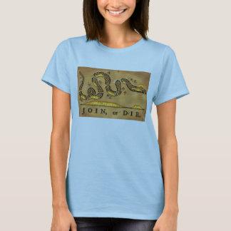 Benjamin Franklin's Join Or Die Political Cartoon T-Shirt