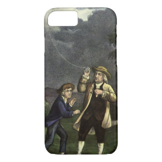 Benjamin Franklin's Kite and Lightning Experiment iPhone 8/7 Case