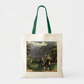 Benjamin Franklin's Kite and Lightning Experiment Tote Bag