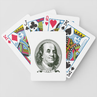 Benjamin Franklyn playing cards