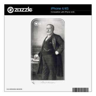 Benjamin Harrison (1833-1901), 23rd President of t iPhone 4 Decals